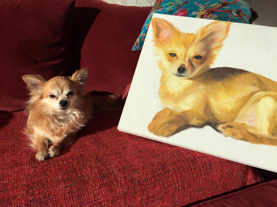 Schilderij Chihuahua