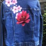 voorbeeld beschilderd jasje bruiloft lotus en bloesem