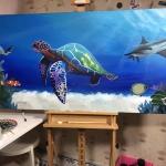 Schilderij onderwaterwereld